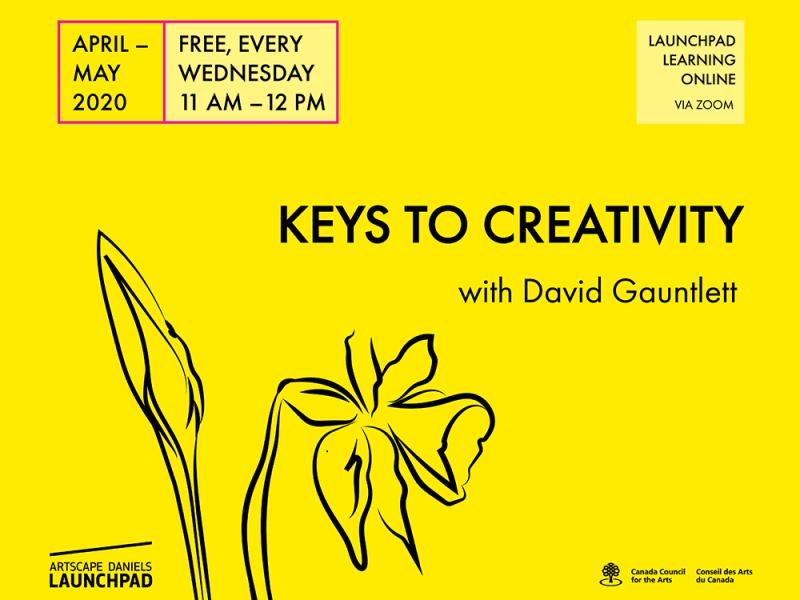 Weekly free creativity workshops on Zoom